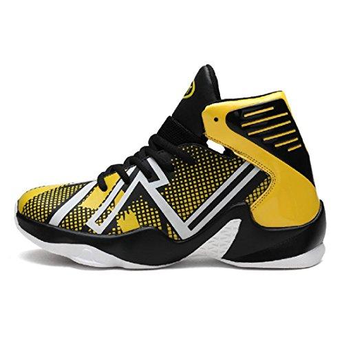Uomo Inverno Taglia larga Scarpe da pallacanestro Moda Scarpe sportive formatori Tenere caldo Piede di protezione euro DIMENSIONE 37-46 yellow