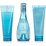 Davidoff Cool Water Woman Eau de Toilette 100 ml/ Body Lotion 75 ml/ Shower Gel Gift Set for Her 75 ml