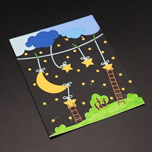 Wanfor Mond Stern Stanzformen Schablone DIY Scrapbooking Präge Album Papier Karte Handwerk