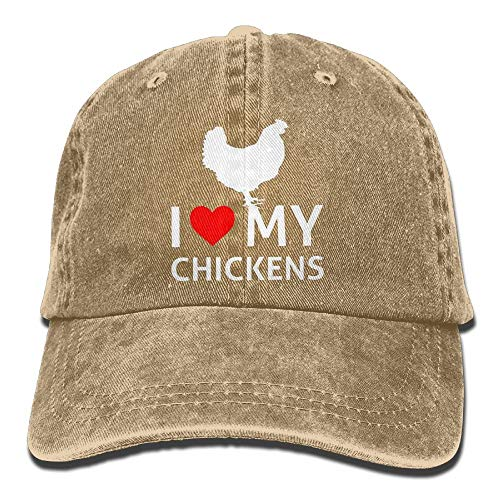 I Love My Chickens Unisex Adjustable Cotton Denim Hat Washed Retro Gym Hat Cap Hat