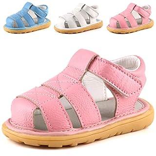 Femizee Unisex-Child Baby Boy Sandals Pink Size: 5.5 M US Toddler