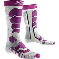 X-Socks Mujer xski Control 2.0Lady skistrumpf, Mujer, SKI Control 2.0 Lady, Light Grey Melange/Violet