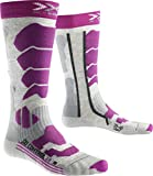 X-Socks Damen SKI Control 2.0 Lady Socken, Light Grey Melange/Violet, 39/40