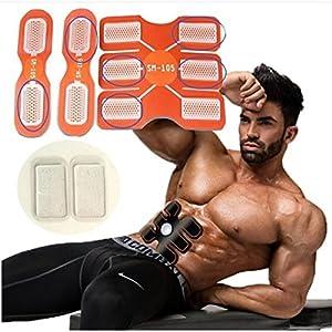 bescita 6 Paar Elektrostimulation, Elektrischer Muskelstimulation EMS-Training Muskelaufbau und Fettverbrennungn Massage-Gerät Home Leicht zu Tragen für Mann Damen Geschenk