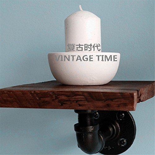Die Leitungen an das Regal Eisen Regale Wandhalterung an der Wand Holz- Integrierte Regal antik Regal (15 * 15 cm) Set-top-Box. - Regal Teiler Set