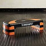 MiraFit Planche Stepper d'Aérobie a 3 Niveaux – Noir/Orange