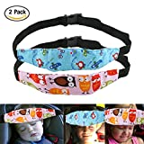 URAQT 2Pcs Bambini del Bambino Cinghia auto Sicurezza, Dormire Cintura di sicurezza, Testa Protezioni Comfort