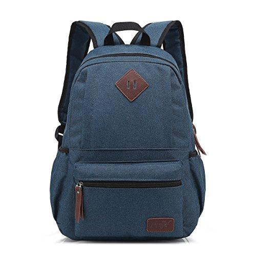 TDC Rucksack Schultasche Computer Tasche Damen Herren Retro Oxford Tuch Student Backpack Laptoprucksäcke Unisex Große Kapazität Freizeit Outdoor Dunkelblau
