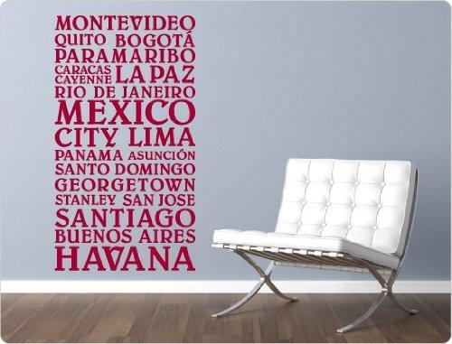 """I-love-Wandtattoo 11335 Wandtattoo """"Südamerikanische Städtenamen"""" (Nr. 3)"""