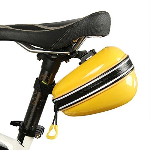 West Biking Wasserdicht Sitz Fahrrad Tasche Hartschale Rucksack oval-shapped mit Reißverschluss großes Fassungsvermögen 2L easy-installation für Outdoor-Aktivitäten bunten (rot/pink/gelb/blau/weiß), Kinder Herren damen, gelb (Mickey Mouse Tail)