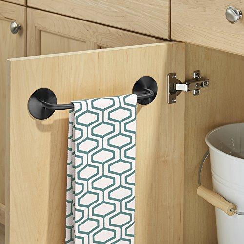 Mdesign porta strofinacci e porta asciugamani cucina struttura appendi strofinacci senza - Strofinacci da cucina ...