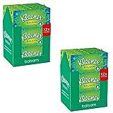 Kleenex ultra soft Balsam Tissues - Packung mit 24 - Ideal für Erkältungs- und Grippesaison - Hinterlässt einen Balsam, der die Nase beruhigt und vor Trockenheit und Wundsein schützt