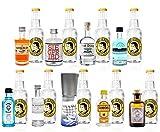 Mini Gin Tonic Probierset - 9 verschiedene Gin Sorten + 9x Thomas Henry Tonic Water 200ml