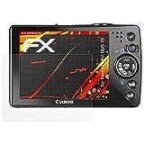 atFoliX Folie für Canon Digital IXUS 75 Displayschutzfolie - 3 x FX-Antireflex-HD hochauflösende entspiegelnde Schutzfolie