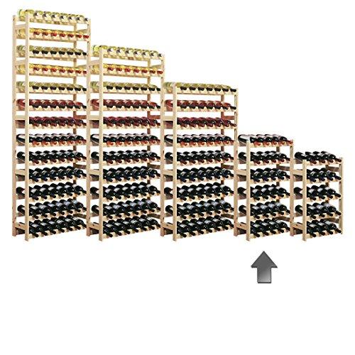 Weinregal / Flaschenregal System Simplex Modell 2, für 30 Fl., Holz, Kiefer natur