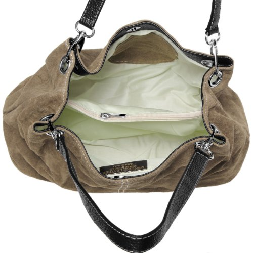 CASPAR Taschen & Accessoires, Borsa a spalla donna cachi