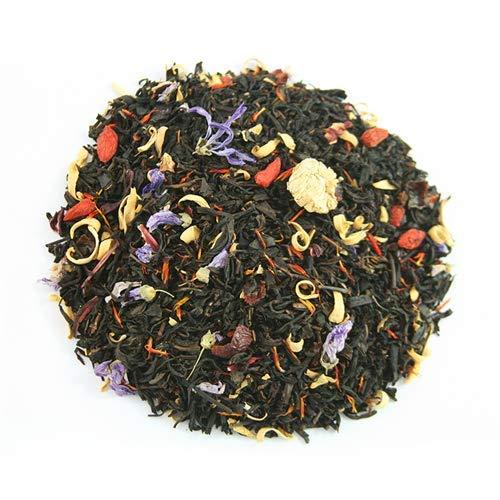 Copacabana Gourmet 100gr. Té negro, escaramujo, hibisco, bayas de Goji, jengibre, azahar, saflor,malva, manzanilla romana, aroma