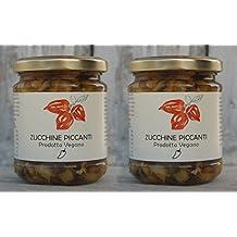 ZUCCHINE AL PEPERONCINO - DUE VASETTI DA gr.180/cad. - Società Agricola Alba in olio extra vergine d'oliva e peperoncino Cayenna - PRODOTTO VEGANO