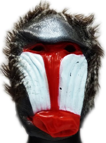Maske Pavian Rot Weiss (Pavian Maske)