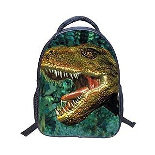 Aibecy RUNNINGTIGER Fashion 3D Dinosaur Cartoon Pattern Backpack Lightweight School Bag Kids Children Toddler Kindergarten School Bookpack for Boys and Girls Gift