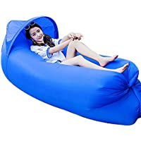 Haehne Portable Lazy Lounger Sleeping Bag, Outdoor Indoor Air Sleep Sofa Laybag Couch Bed, Nylon Waterproof Collapsible, Beanbag for Lounging, Summer Camping, Beach, Fishing