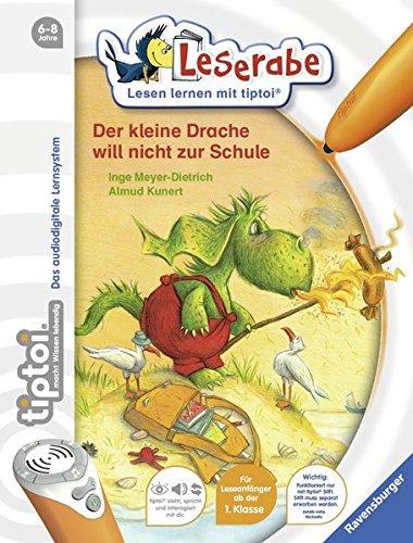 Buchcover tiptoi® Der kleine Drache will nicht zur Schule (tiptoi® Leserabe)