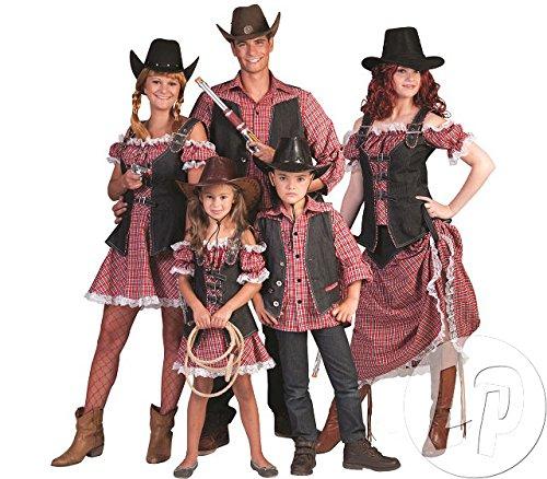 Cowgirl Nathalie Kostüm für Mädchen Gr. 152 - Tolles Wild West Kostüm für Kinder