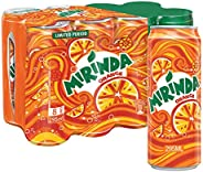 Mirinda Orange, Carbonated Soft Drink Cans, 8 x 295 ml