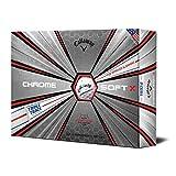 Callaway Soft X Lot de 12 balles de Golf Chromé, Mixte, 641935612, Triple Track, Pack of