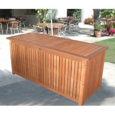Hartholz Auflagenbox Kissenbox Gartenbox Auflagentruhe Akazie Wohaga® geölt inkl. Innenfolie 133x58x55cm