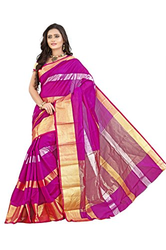 Mimosa Women Kanchipuram Art Silk Saree with Blouse (3042-7705-Os-Mejantha, Red)