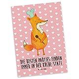 Mr. & Mrs. Panda Postkarte Fuchs Koch - 100% handmade in Norddeutschland - Küche Deko, Party Spruch, Bäcker, Sprüche, Köche, Papier, Koch Geschenk, Postkarte, Küche Spruch, Geschenkkarte, Grußkarte, Füchse