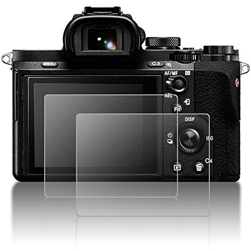 Schützender Schirm-Schutz für Sony Alpha A7II A7RII A7S II A7MKII Kamera, AFUNTA 2 Satz Anti-scrach gehärtetes Glas LCD-Schirm-Schutz für A7 II A7 RII RII A7R II A7SII A7 MKII A7 SII A7S II (Lcd Protector Film Screen)