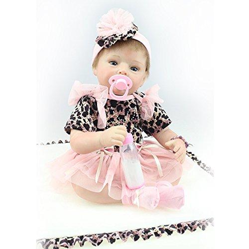 Nicery Munecas Reborn Baby Vinilo de Silicona Suave para Niños y Niñas Cumpleaños 20-22 Inch 50-55 cm Juguetes gx55-39es