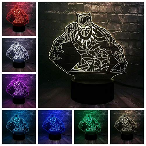 Marvel Theme Avengers Film Figur Captain America Shield 3D Stimmung Nachtlicht LED 7 Farbe Ladung Mini USB Room Decor Geschenk C (Avengers Theme Party)