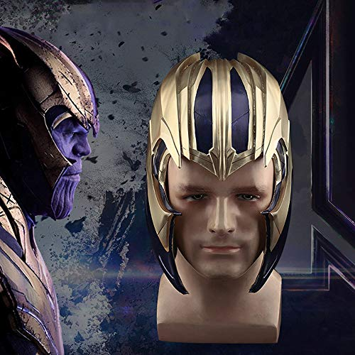 K-Y YK 2019 Avengers 4: Endgame Dress Up Thanos Helmet Mask Halloween Movie Cosplay Marvel Heroes Props (2019 Die Halloween-kostüme Erwachsene Besten)