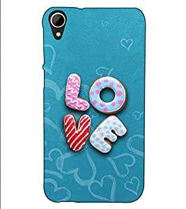 Fuson Designer Back Case Cover for HTC Desire 830 :: HTC Desire 830 Dual Sim (Caligraphy Love theme)