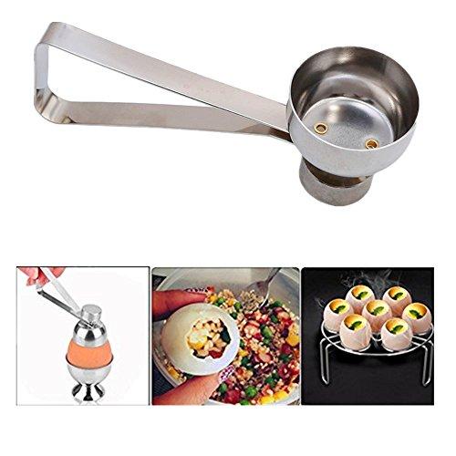 Eierköpfer Ausstecher, Guizen Edelstahl Eierschalen Cracker Eieröffner mit Griff Küche Tool
