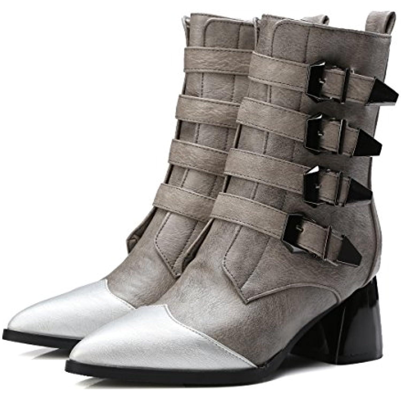 CXQ-Bottes QIN&X Chaussures femmes talon haut Bloc Chaussures Bottes Bottes Bottes Moyen - B078MJRWDT - 0018c9