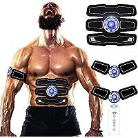 Jingfude Electroestimulador Muscular Abdominales EMS ABS Trainer Abdomen Brazo Piernas Cintura Entrenador Masajeador con USB Recargable para Hombre Mujer Ejercitador de Interior
