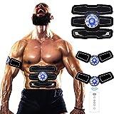 Jingfude Muskel Toner, Bauchstraffung Gürtel, EMS ABS Trainer, Fitness Geräte, Wireless wiederaufladbare Body fit Trainingsband, mit Fernbedienung, für Bauch/Arm/Bein Training, für Frauen und Männer