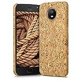 kwmobile Motorola Moto G5S Hülle - Handyhülle für Motorola Moto G5S - Handy Case Kork Cover Schutzhülle