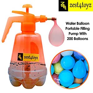 Zest 4 Toyz Holi Water Balloon Pumping Station with 200 Water Balloons and Water Pump for Kids -Color May Vary