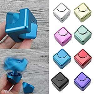 Fingertips Gyro Toys Tri Fidget Cube Hand Spinner Triangle Metal Finger Focus Toy ADHD Autism Spinning Toys Lanspo