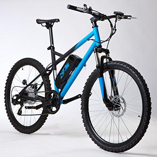 Bicicletta Mountain Bike Elettrica IFM Blu Nero con Batteria Litio