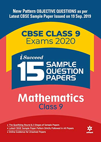 15 Sample Question Papers Mathematics Class 9 CBSE 2019-2020