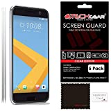 [Pack de 5] TECHGEAR® HTC 10 Film de Protection Ultra Clair pour Écran LCD avec Chiffon de Nettoyage & Carte d'Application