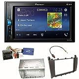 Pioneer MVH-A200VBT USB Bluetooth MP3 WMA Autoradio 2-DIN Moniceiver Einbauset für Mercedes C-Klasse W203 CLC CL203 S203