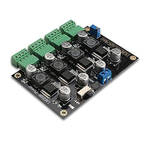 DROK® LM2596 Mehrfachausgang Schalten Energieversorgung Modul, DC-DC Buck Converter Abwärtswandler 4-Wege 5-40V bis 3.3V / 5V / 12V / ADJ Einstellbarer Stromspannung, Step Down nach unten Schritt (Kingdom Modul)