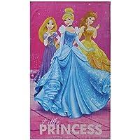 CTI 044207 – Toalla rosa de playa de Princesas Dream Big de algodón con diseño de